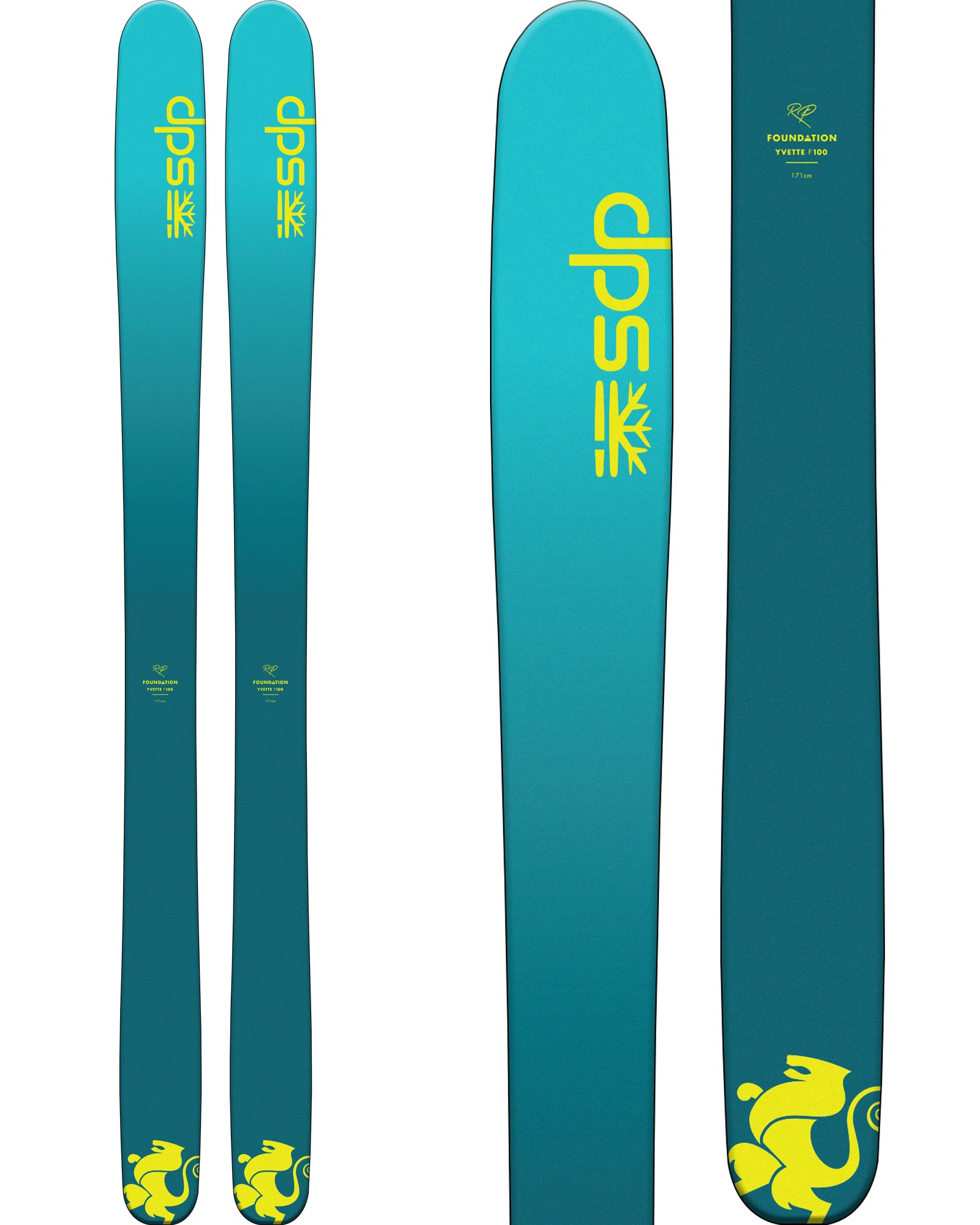 DPS Women's Yvette F100 RP Freeride Skis 2020 / 2021 0