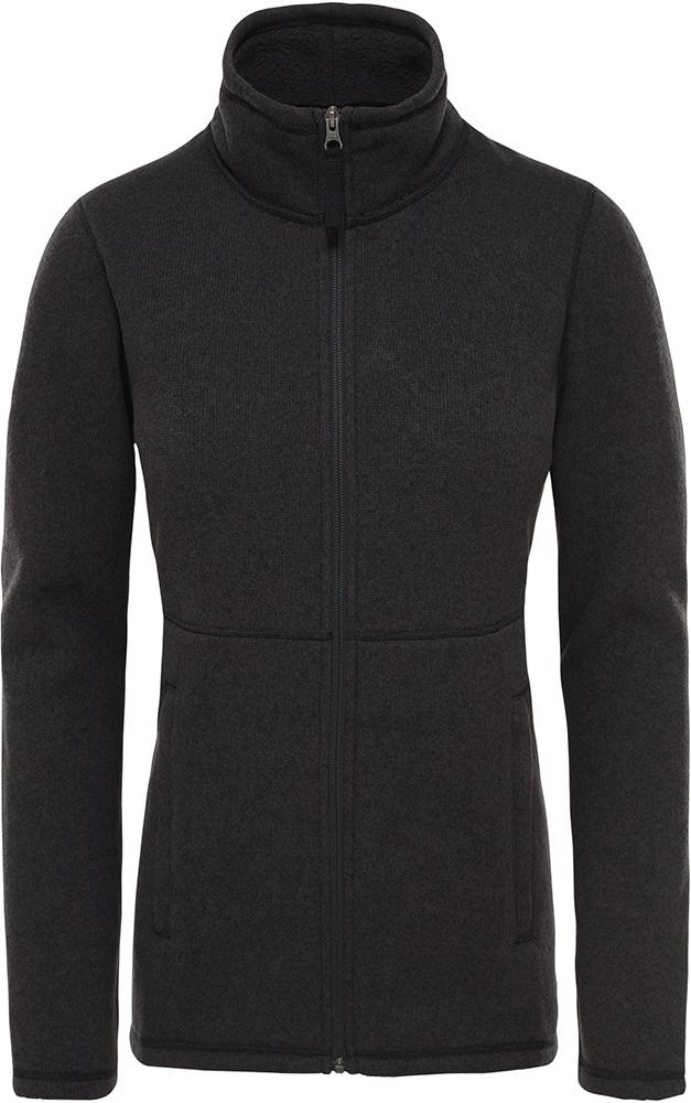 The North Face Women's Crescent Full Zip Fleece TNF Black Heather 0