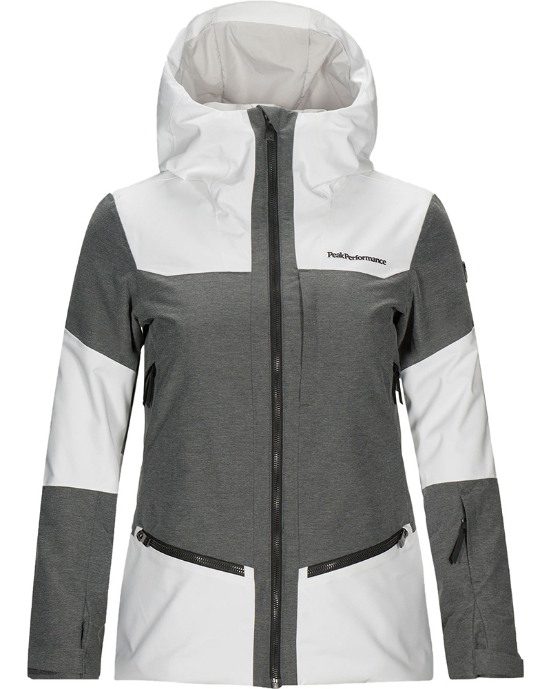 Peak Performance Women's Balmaz Ski Jacket Off White/Grey Marl 0