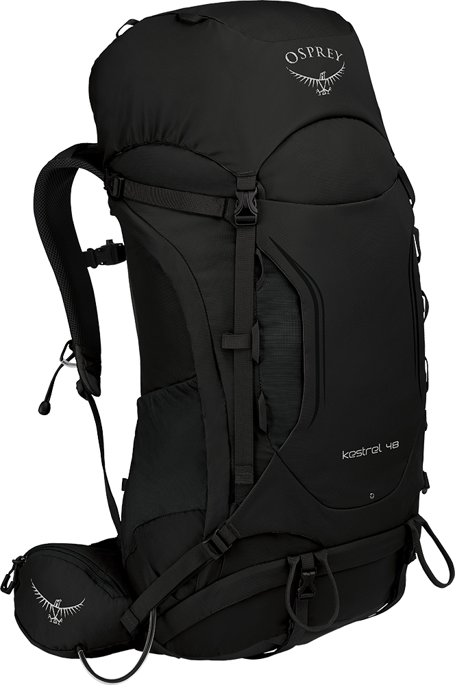 Osprey Men's Kestrel 48 Backpack Black 0