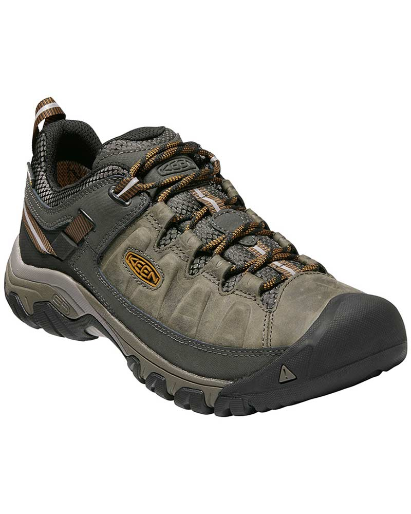 Keen Men's Targhee III Low Waterproof Walking Shoes Black Olive/Golden Brown 0
