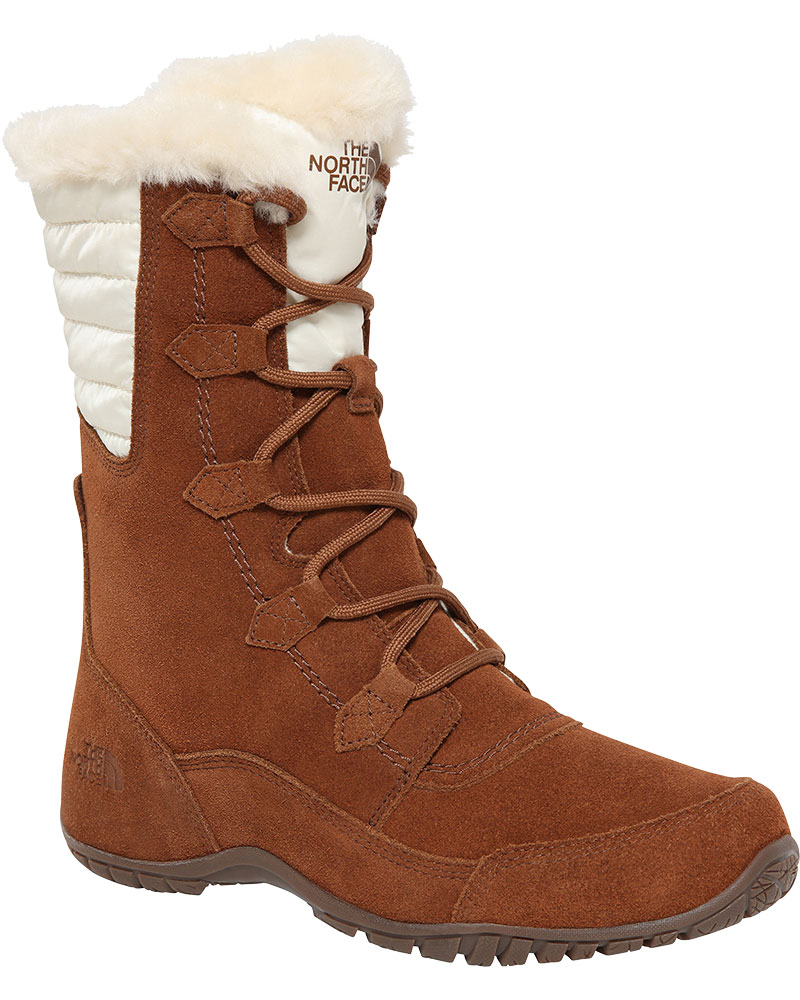 The North Face Women's Nuptse Purna II Snow Boots Dachshund Brown/Vintage White 0