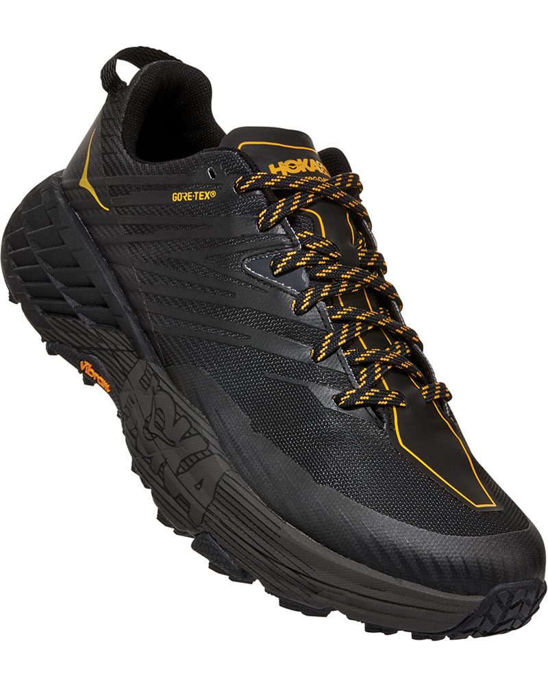 Hoka One One Men's Speedgoat 4 GORE-TEX Trail Running Shoes Anthracite/Dark Gull Grey 0