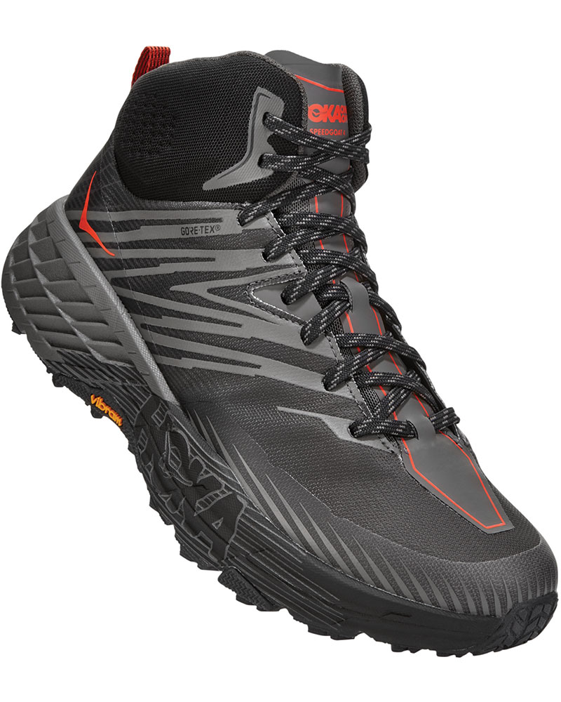 Hoka One One Men's Speedgoat 2 Mid GORE-TEX Walking Boots Anthracite/Dark Gull Grey 0