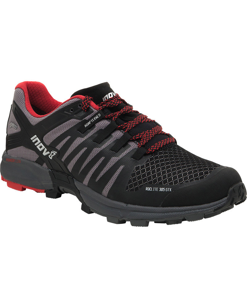 Inov-8 Men's Roclite 305 GORE-TEX Trail Running Shoes Black/Grey/Red 0