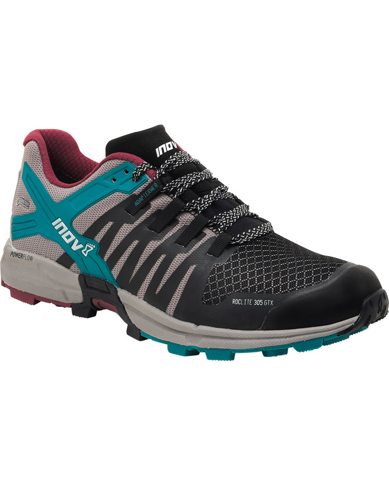 Inov-8 Women's Roclite 305 GORE-TEX Trail Running Shoes Black/Grey/Teal 0