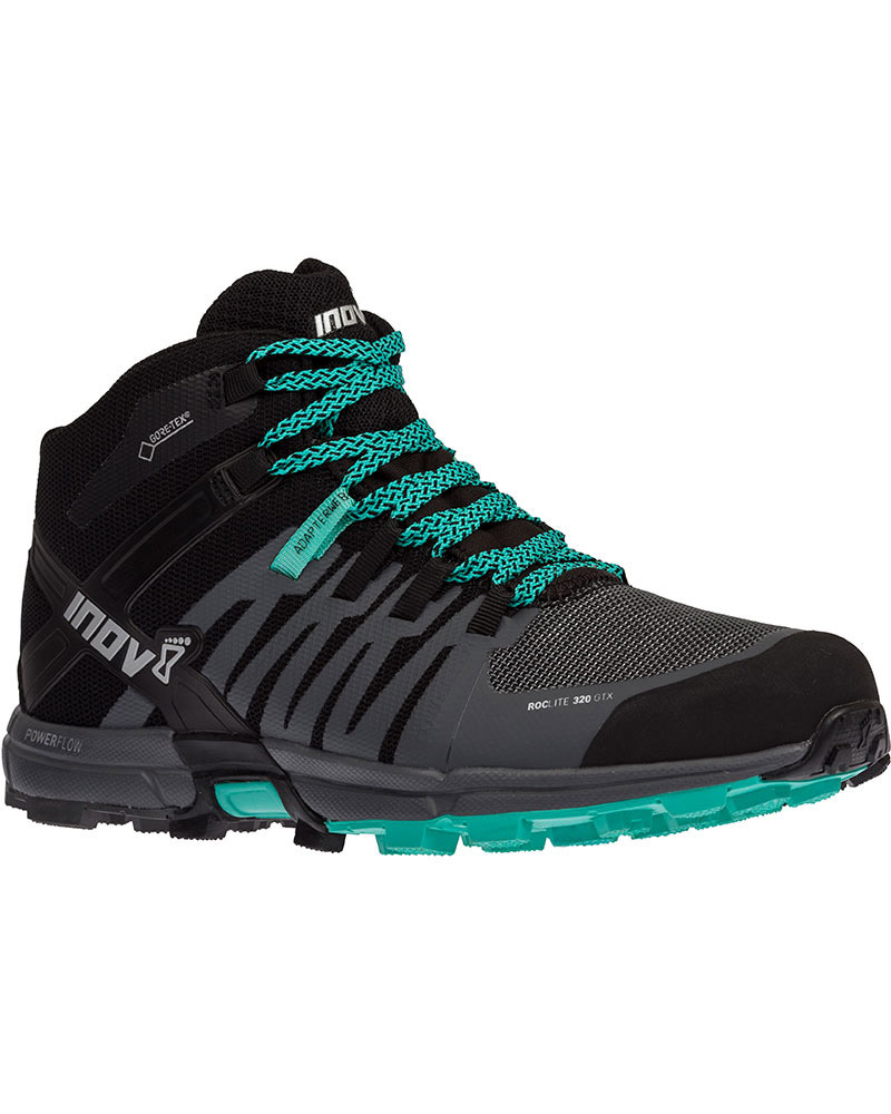 Inov-8 Women's Roclite 320 Mid GORE-TEX Walking Boots Black/Grey/Teal 0
