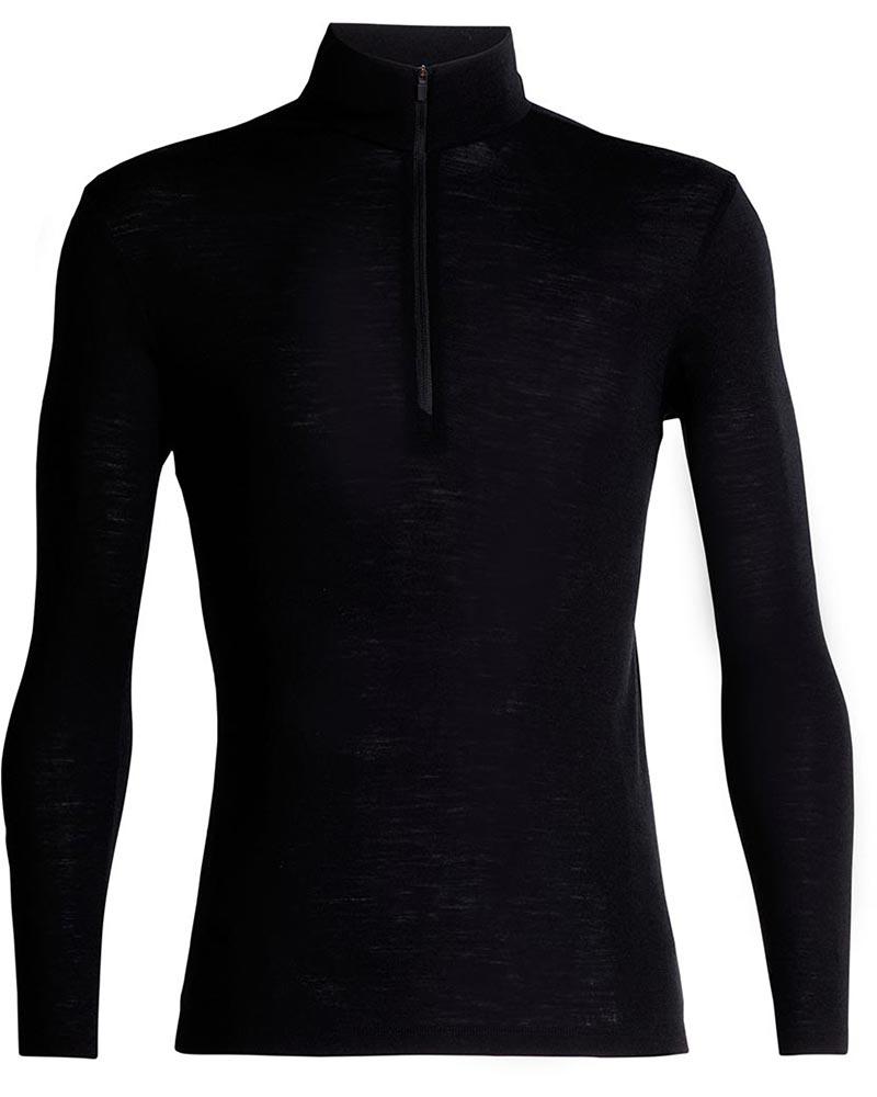 Icebreaker Men's Merino Bodyfit 175 Everyday L/S Half Zip Black 0