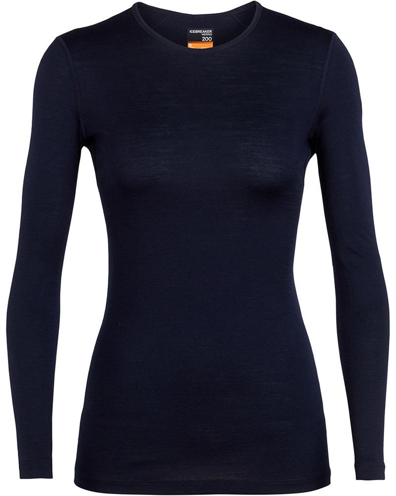 Icebreaker Women's Merino Bodyfit 200 Oasis L/S Crew 0