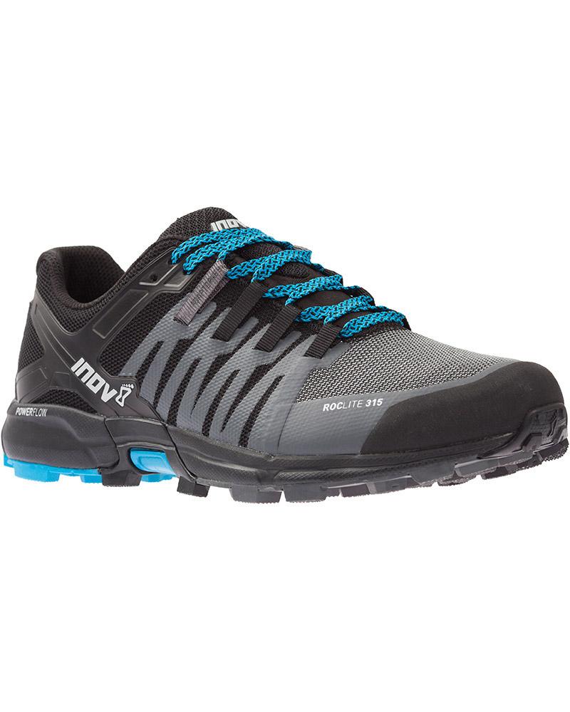Inov-8 Men's Roclite 315 Trail Running Shoes Grey/Black/Blue 0