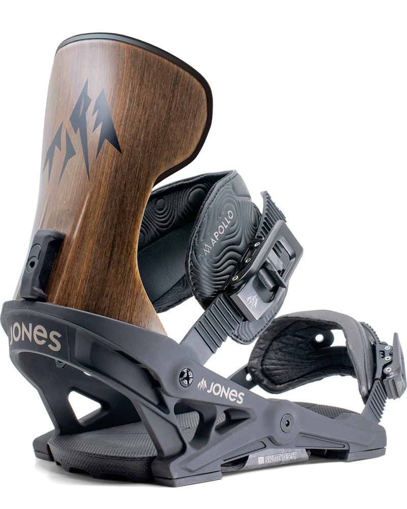 Jones Men's Apollo Snowboard Bindings 2019 / 2020 Black 0