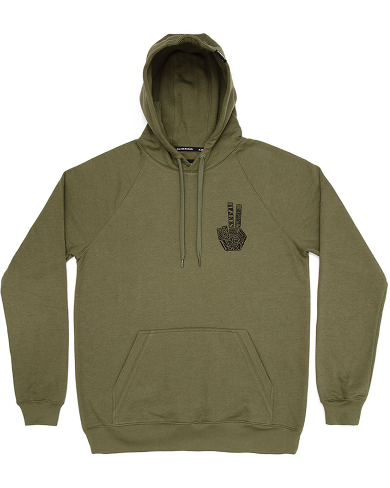 Planks Men's Hand of Shred Hoodie Army Green 0