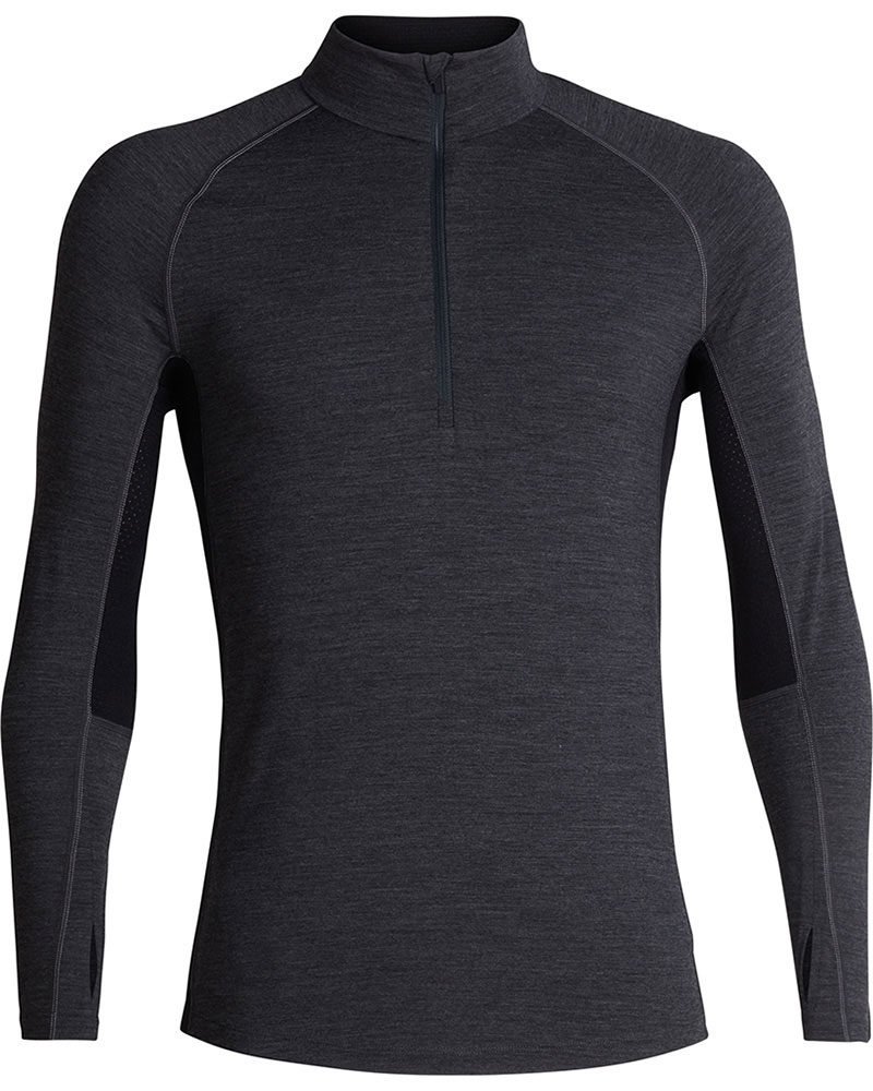 Icebreaker Men's Merino 200 Zone L/S Zip Neck 0