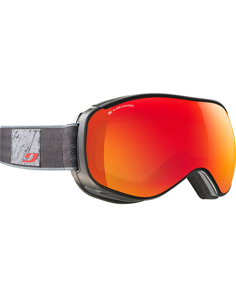 Julbo Ventilate Black Grey / Red Polarized Multilayer Fire Goggles 2018 / 2019 Black Grey 0