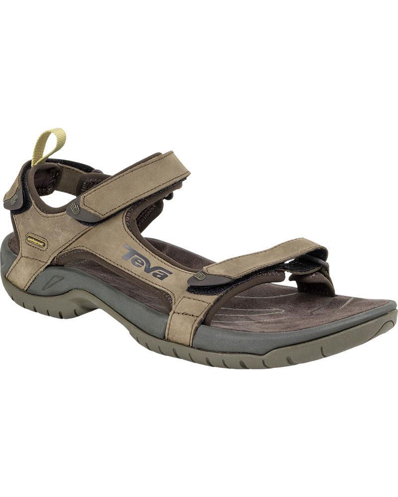 Teva Men's Tanza Leather Sandals Brown 0
