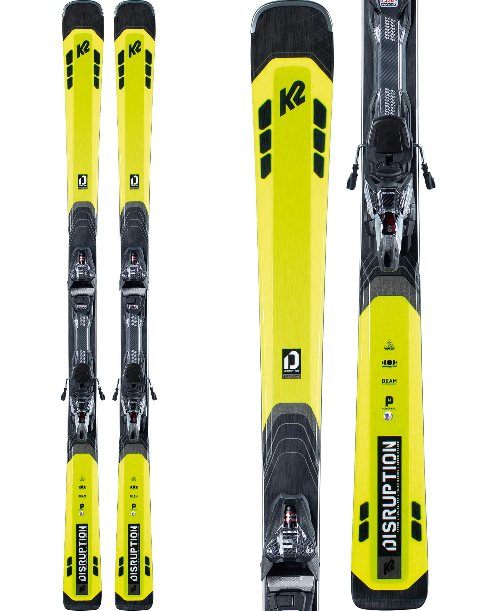 K2 Men's Disruption 82 Ti Piste Skis + MXCELL 12 TCx Quiklik Bindings 2020 / 2021 0
