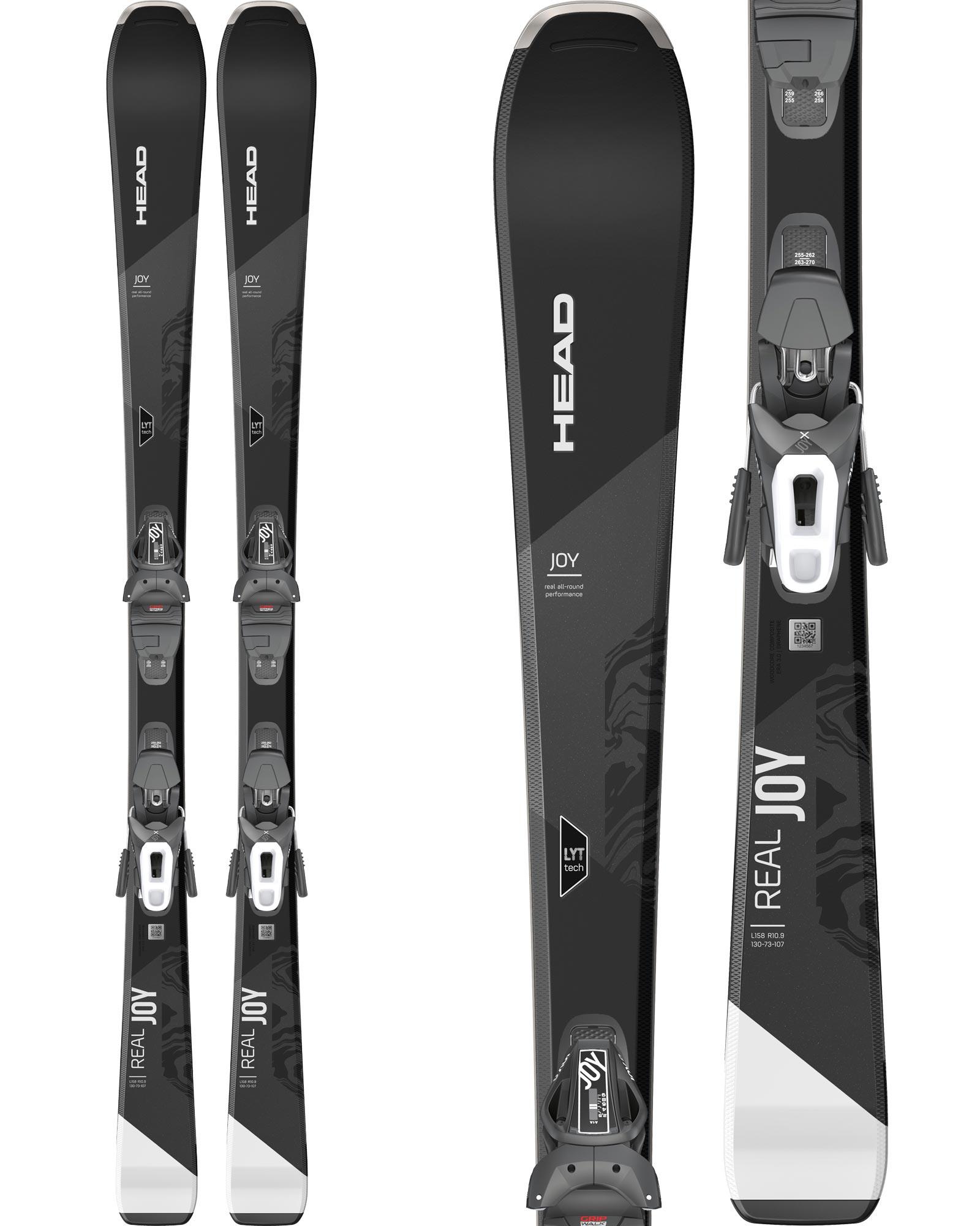 Head Women's Real Joy Piste Skis + Joy 9 GW SLR Brake 85 Bindings 2020 / 2021 0