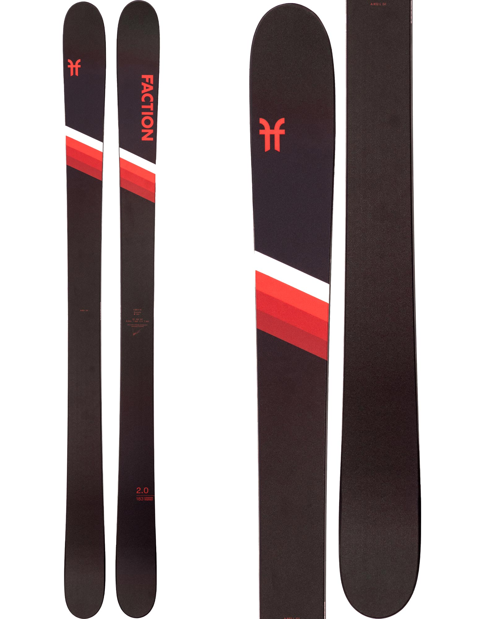 Faction Men's CT 2.0 Freestyle Skis 2020 / 2021 0