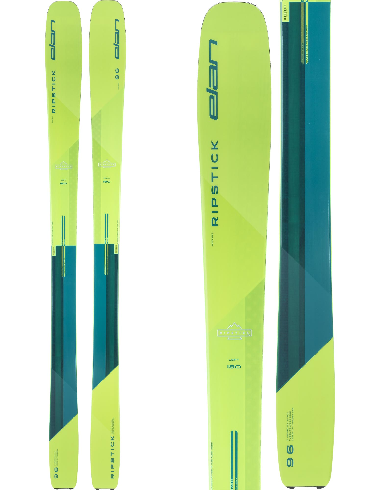 Elan Men's Ripstick 96 Freeride Skis 2020 / 2021 0