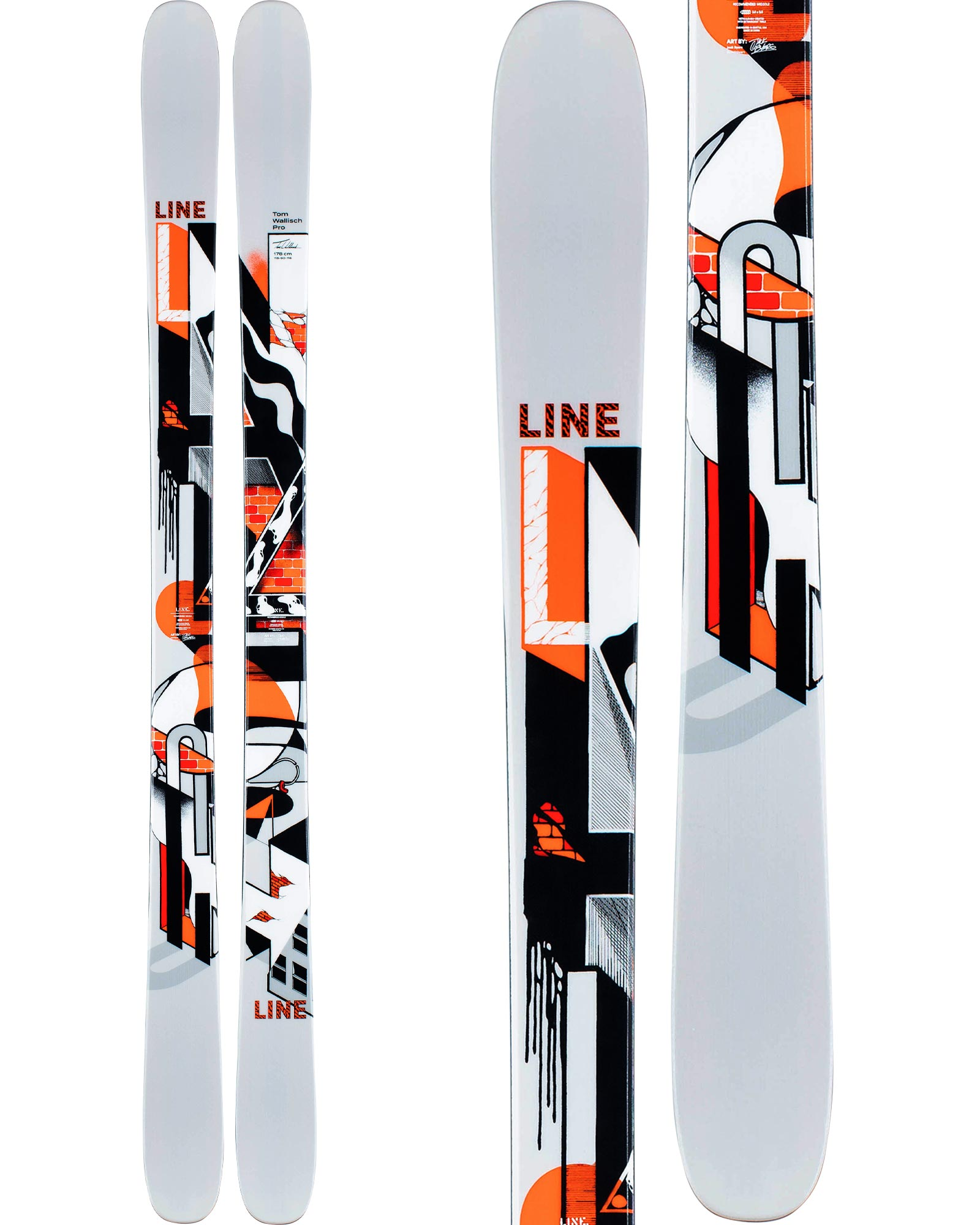 Line Men's Tom Wallisch Pro Freestyle Skis 2020 / 2021 0