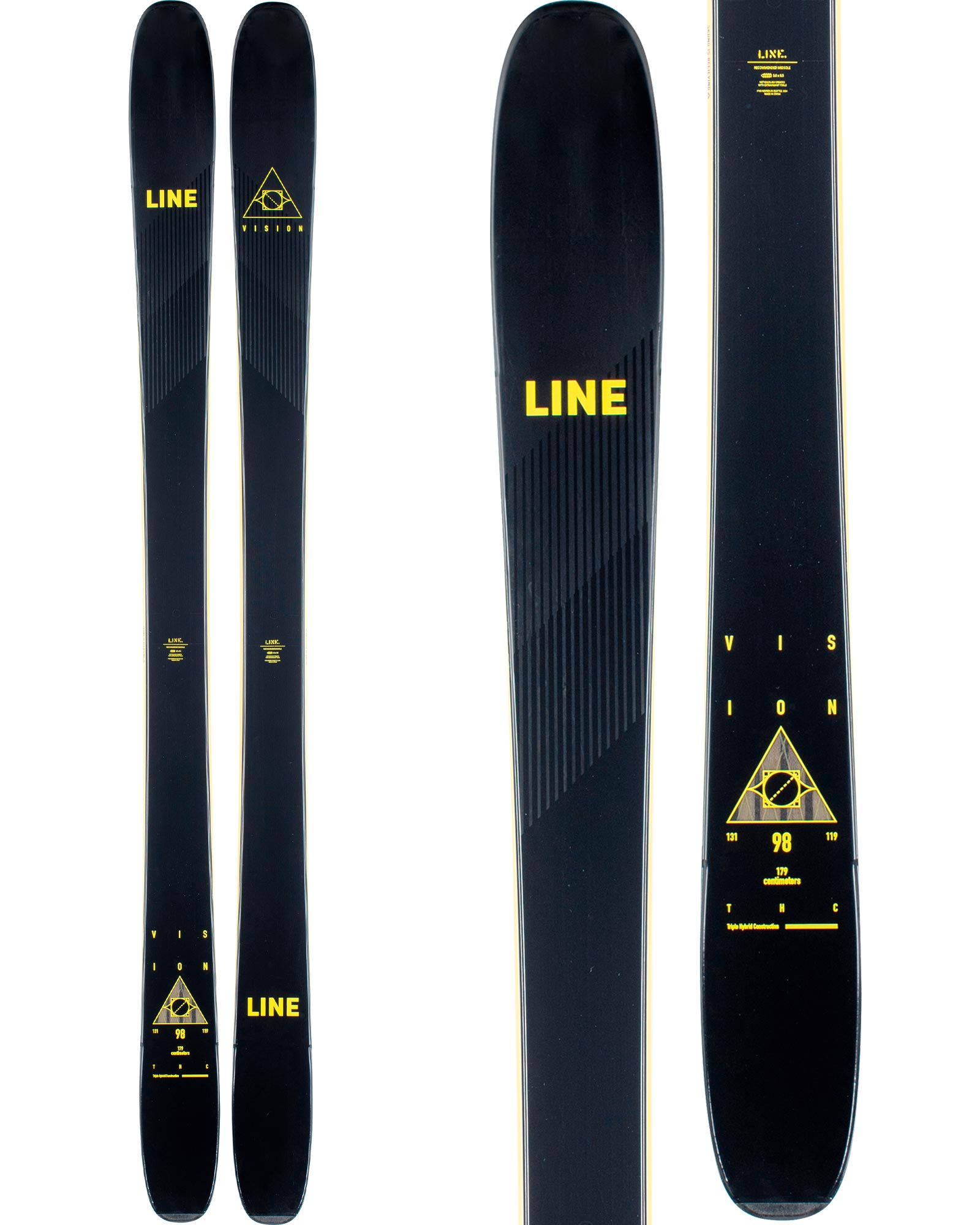 Line Men's Vision 98 Freeride Skis 2020 / 2021 0