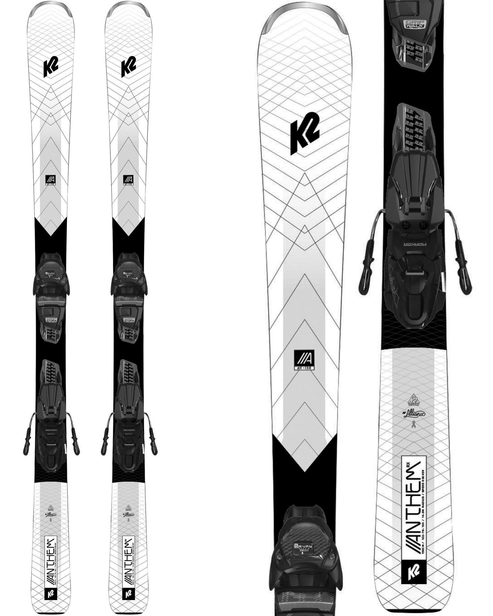 K2 Women's Anthem 74RX Piste Skis + ER3 10 Compact Quikclik Bindings 2020 / 2021 0