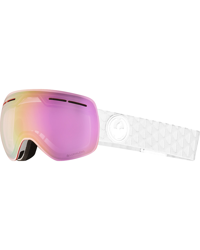 Dragon X1s Whiteout / Lumalens Pink Ionized + Dark Smoke Goggles 2019 / 2020 0