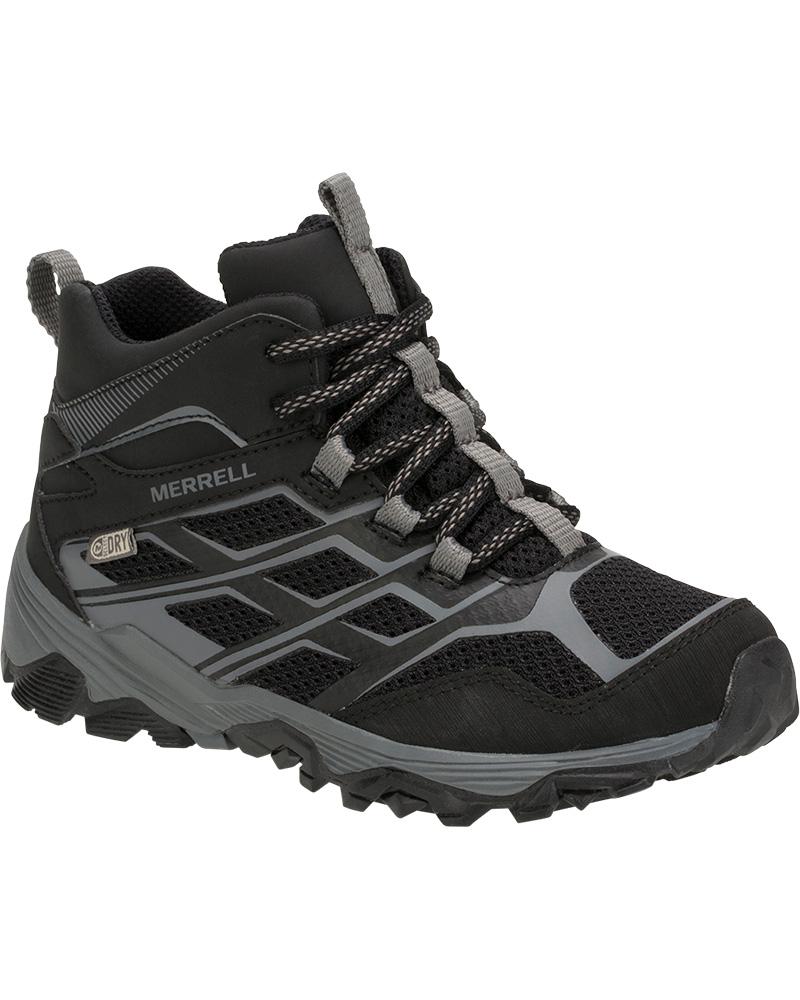 Merrell Kids' Moab FST Mid Waterproof Walking Boots 0