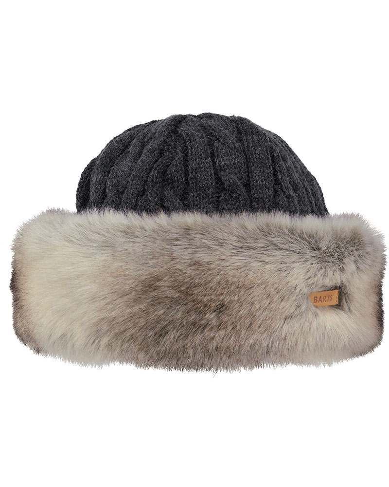 Barts Women's Fur Cable Bandhat Heather Brown 0