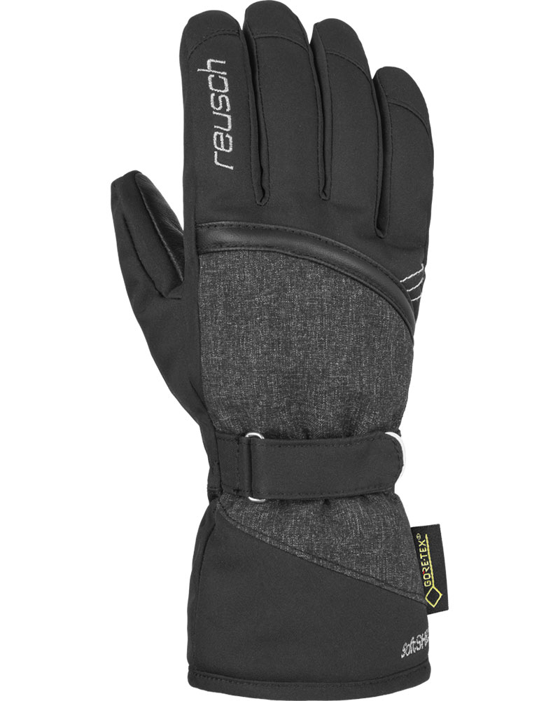 Reusch Women's Alexa GORE-TEX Ski Gloves Black/Silver/Grey 0