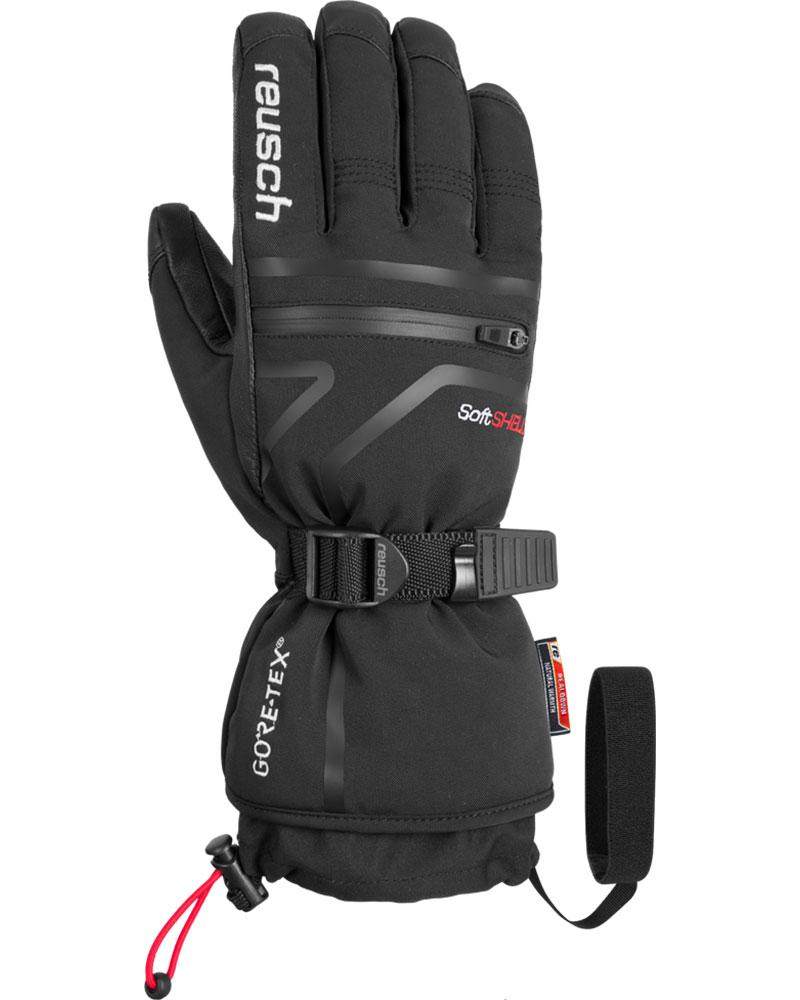 Reusch Men's Down Spirit GORE-TEX Ski Gloves Black/Whie 0