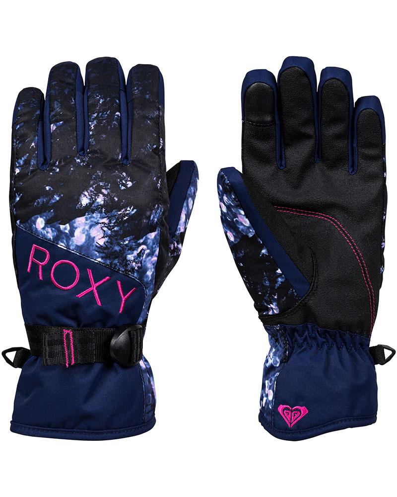 Roxy Women's Jetty Snowsports Gloves Medieval Blue Sparkles 0