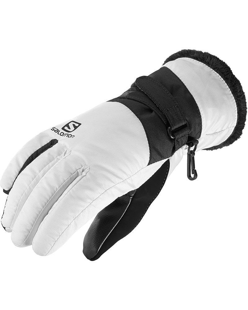 Salomon Women's Force Dry Ski Gloves White/Black 0
