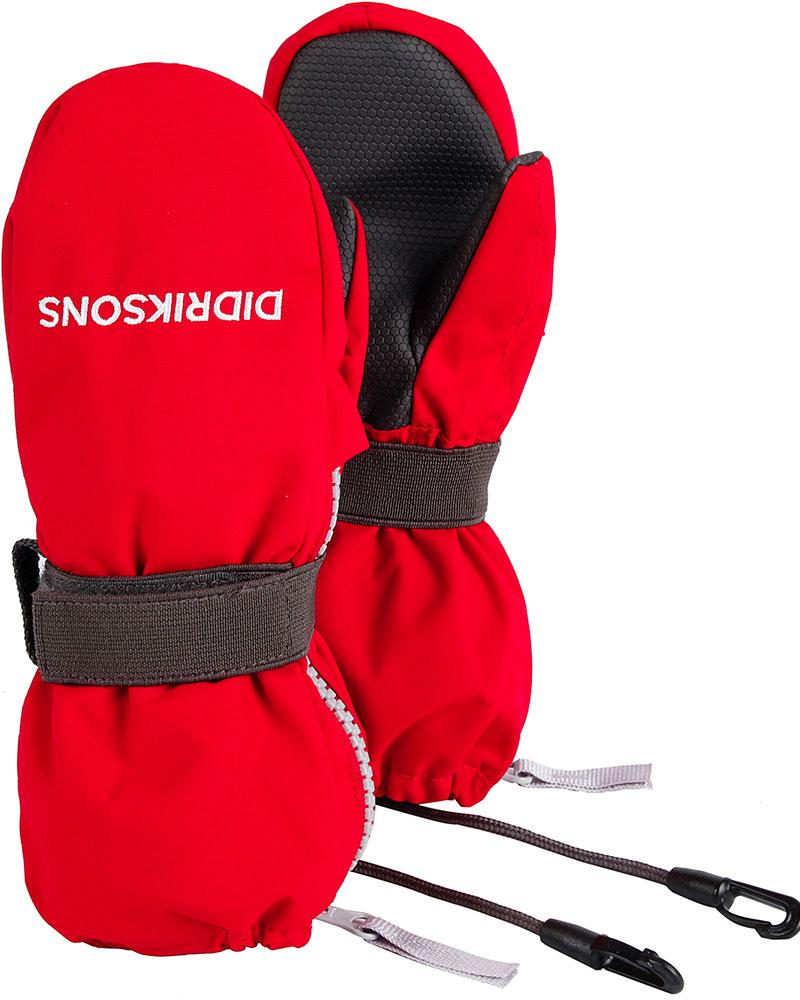 Didriksons Kids' Biggles Kids Zip Snowsports Mittens Chilli Red 0
