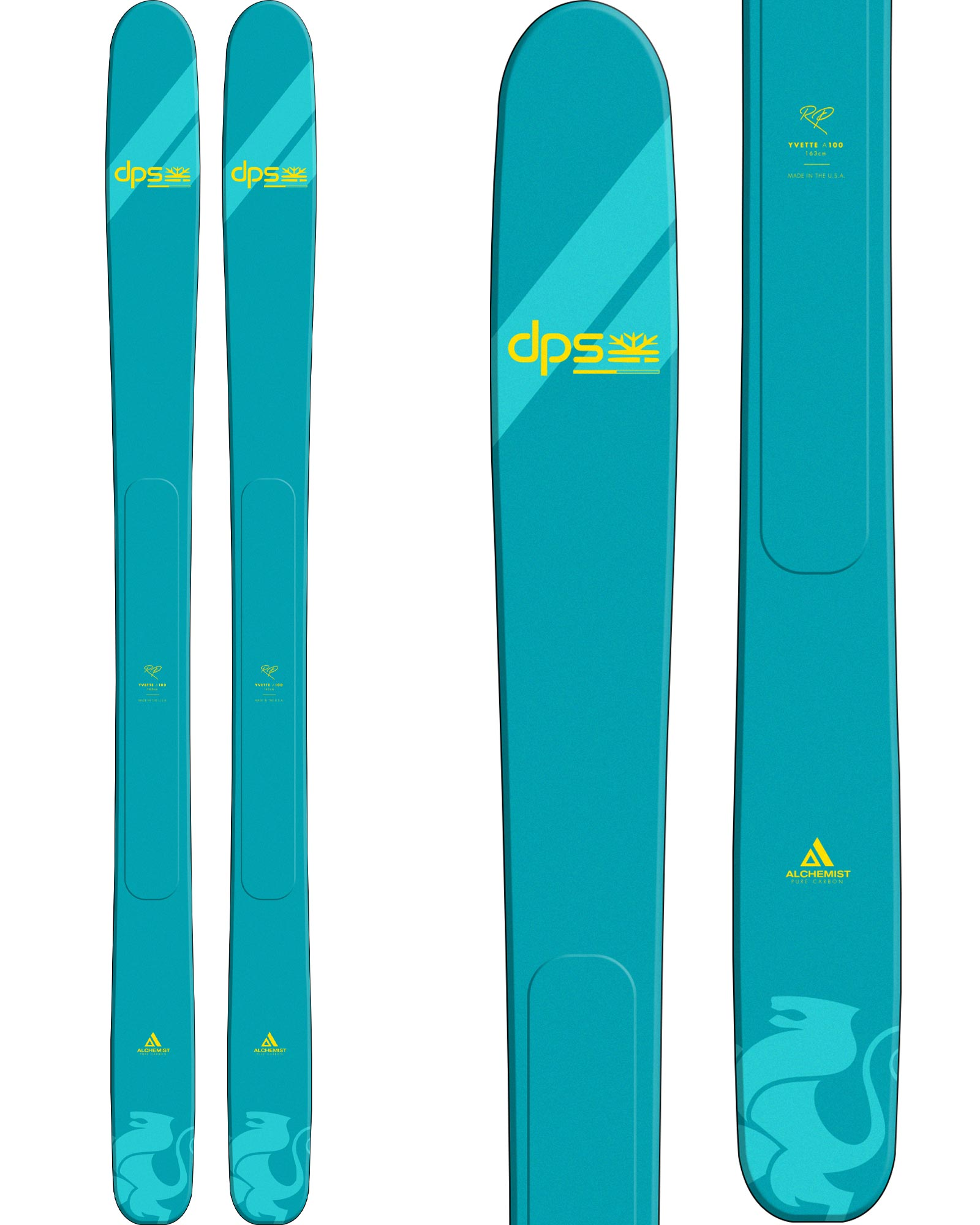 DPS Women's Yvette A100 RP Freeride Skis 2020 / 2021 0