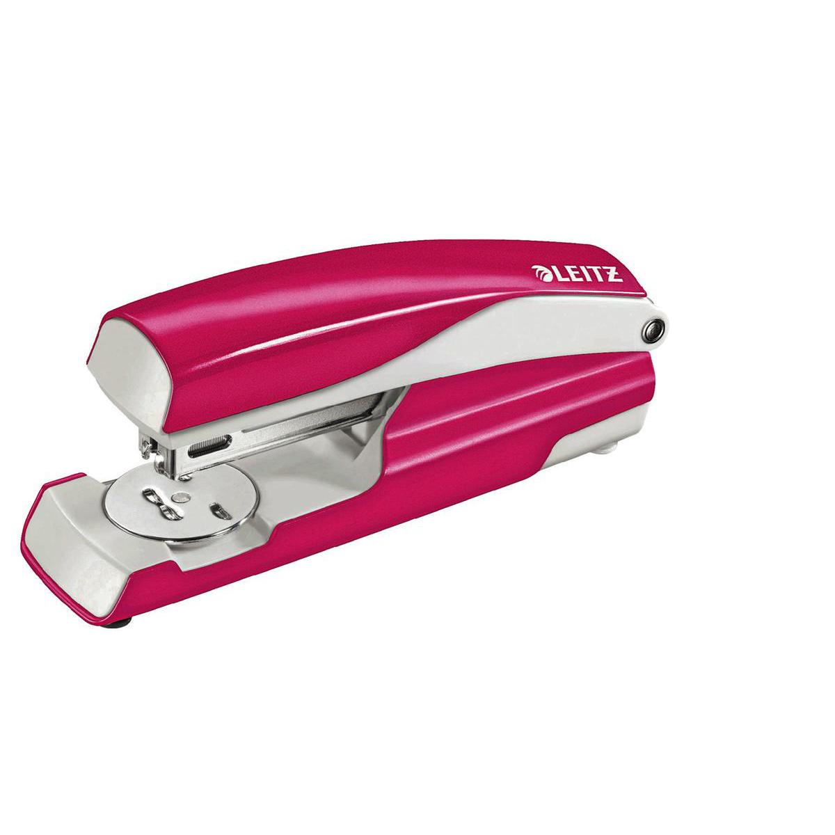Leitz NeXXt WOW Stapler 3mm 30 Sheet Pink Ref 55021023L