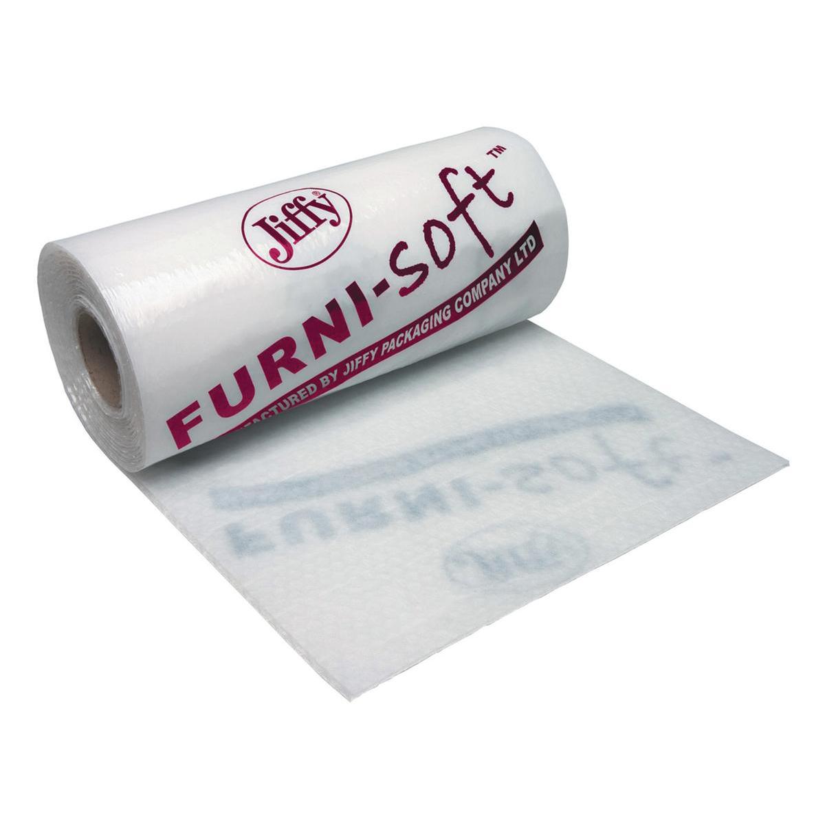 Jiffy Furni-soft Roll Soft Low Density Polyethylene Furniture Protection 1200mmx50m Clear Ref BLAM39561