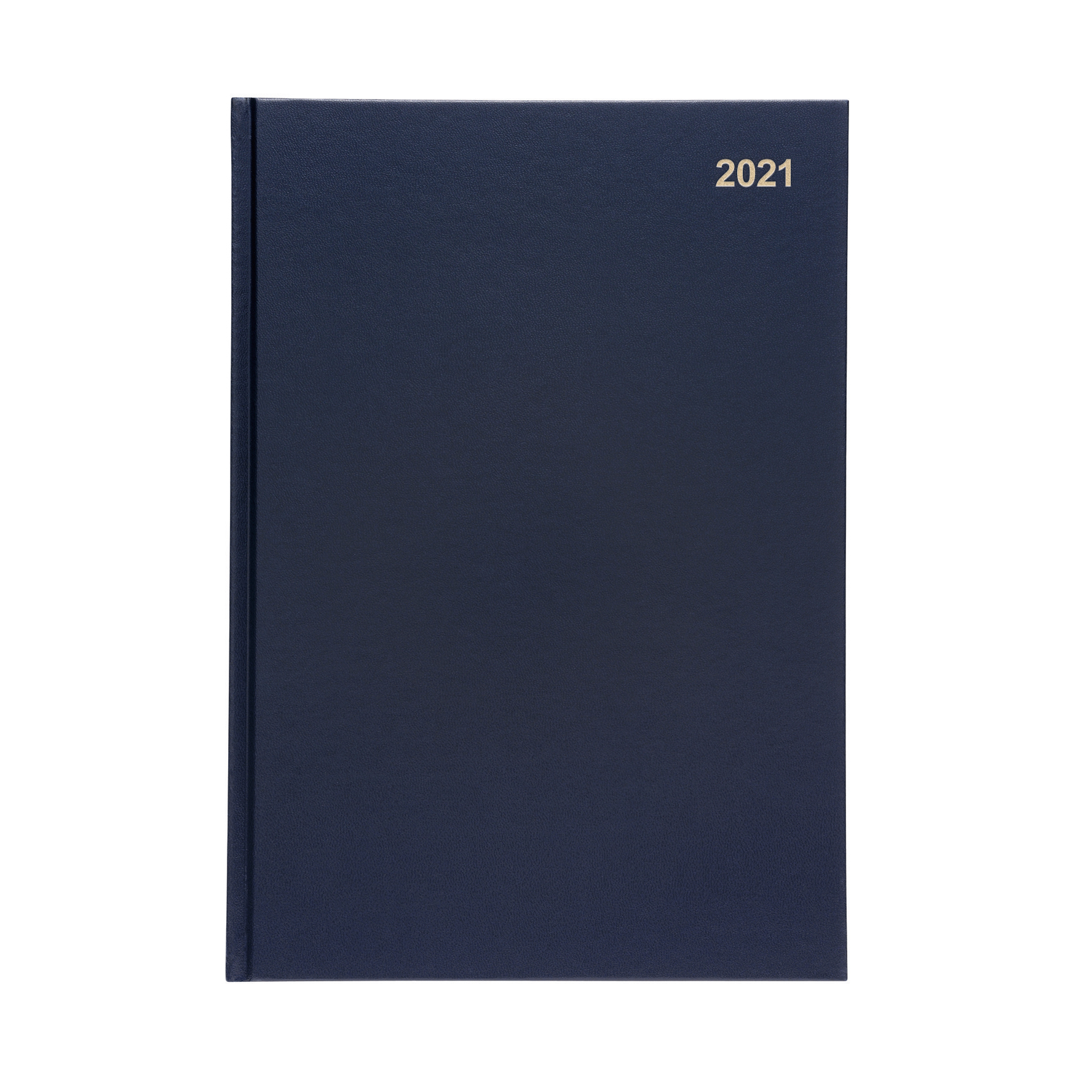 5 Star Office 2021 Diary Week to View Casebound and Sewn Vinyl Coated Board A4 297x210mm Blue