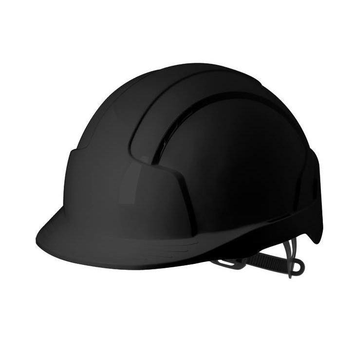 JSP EVOLite Safety Helmet ABS 6-point Terylene Harness EN397 Standard Black Ref AJB160-001-1G1