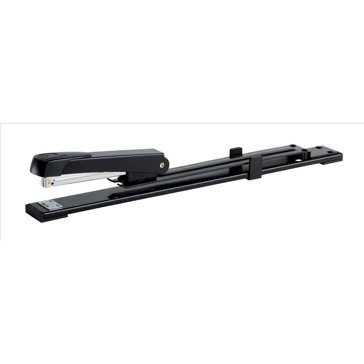 Rexel Long Reach Stapler 26/6 24/6 Staples Pins & Tacks 308mm Throat 15 Sheet Capacity Black Ref 01026