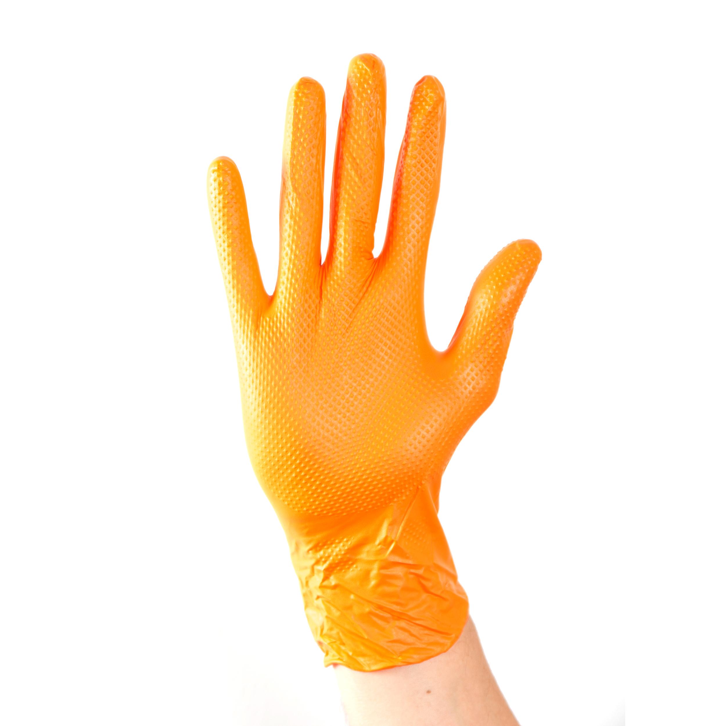 Aurelia Ignite Heavy Duty Nitrile Gloves Large Orange [Pack 100] Ref 97888