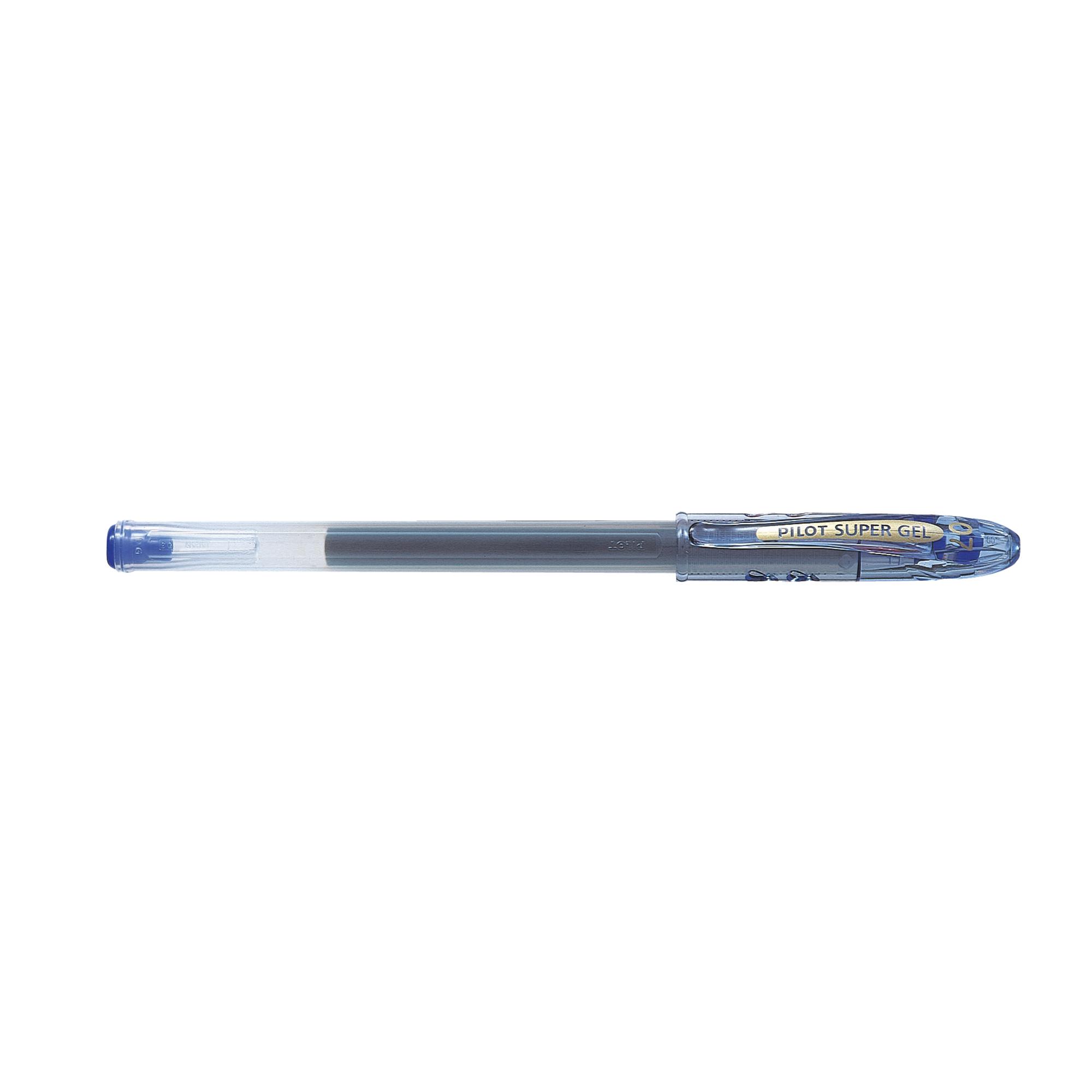 Pilot SuperGel Ink Rollerball Pen 0.7mm Tip Blue Ref 4902505243783 [Pack 12]