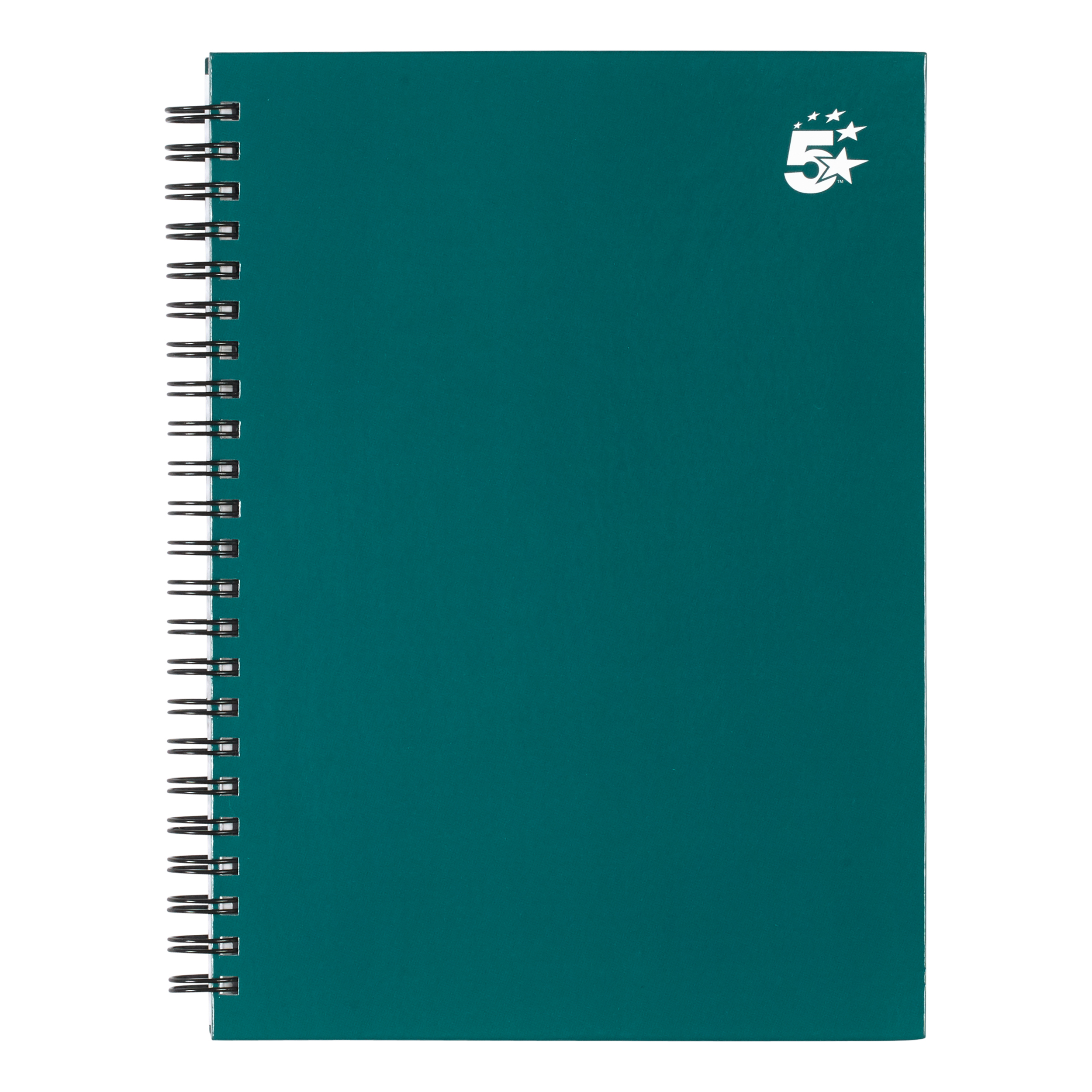 Image for 5 Star Office Twinbound Hardback A5 140Pg Teal Ref 943453 [Pack 5]