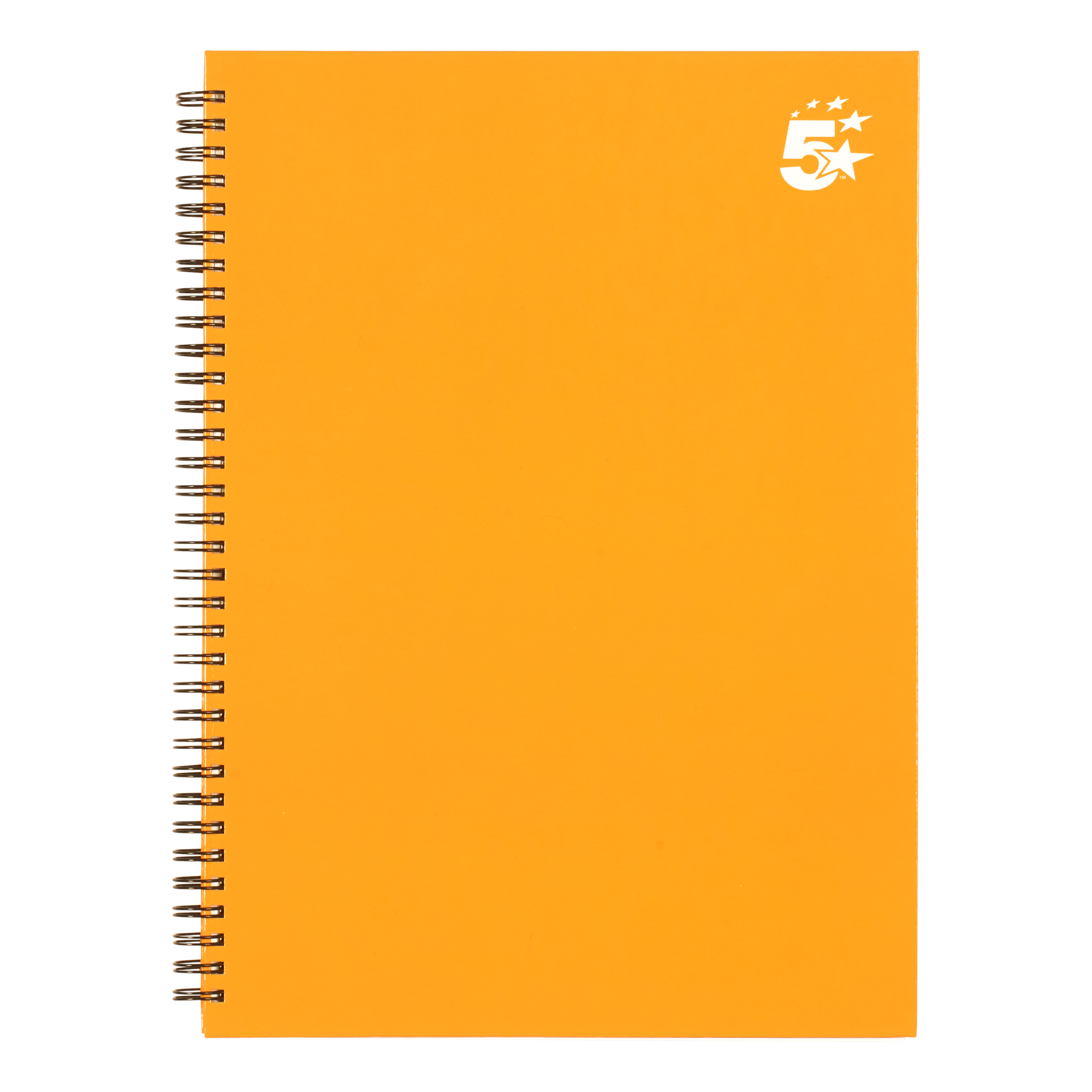 5 Star Office Twinbound Hardback A4 140Pg Yellow Ref  [Pack 5]
