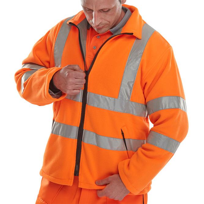B-Seen Hv Outer Wear - Carnoustie Fleece Jkt Or Lge