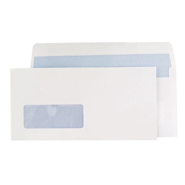 Blake Premium Office Envelopes Wallet P&S Window 120gsm DL Ultra White Wove Ref 32216 [Pack 500]