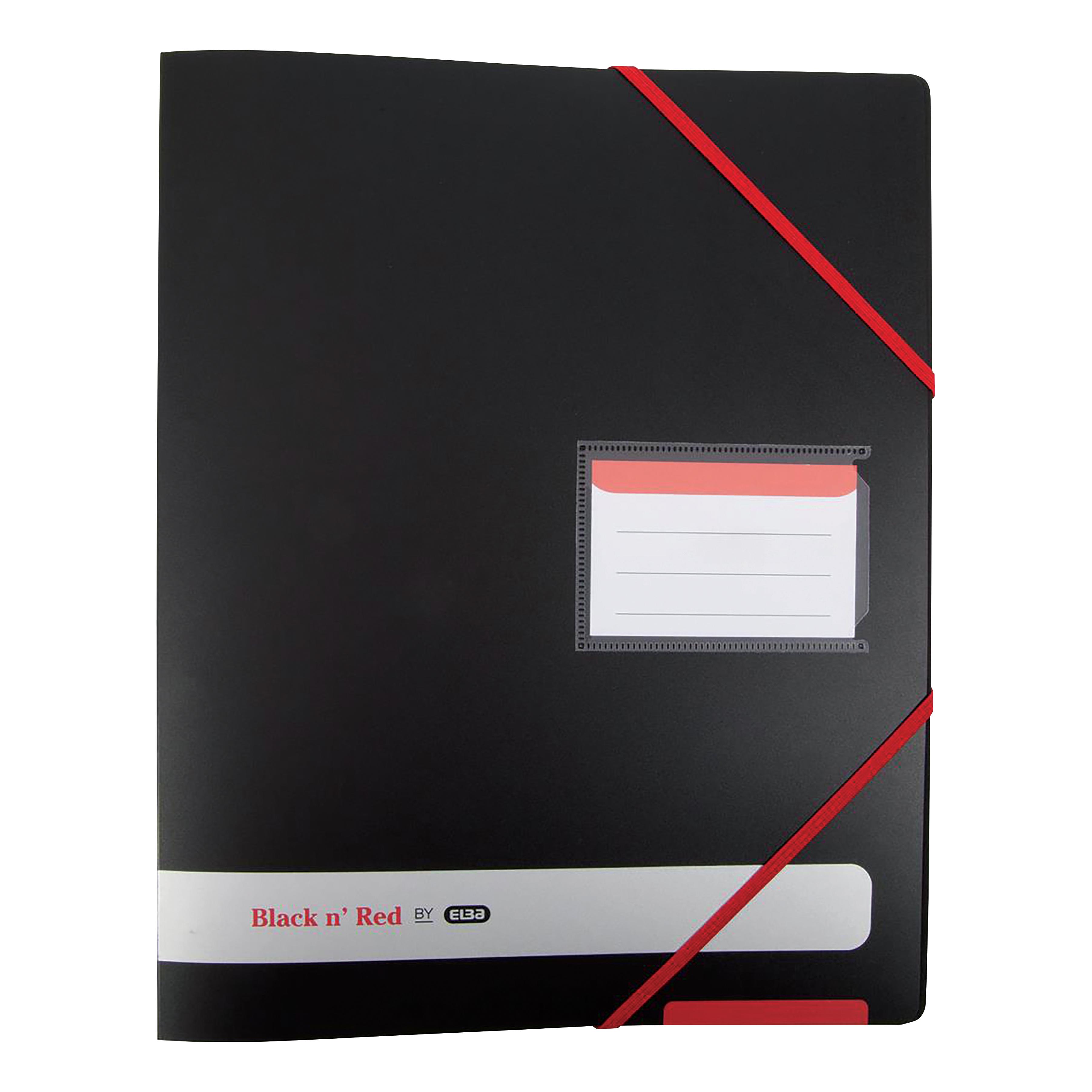 Black n Red by Elba Ring Binder 16mm Capacity PP 4 O-Rings A4 Black Ref 400078863