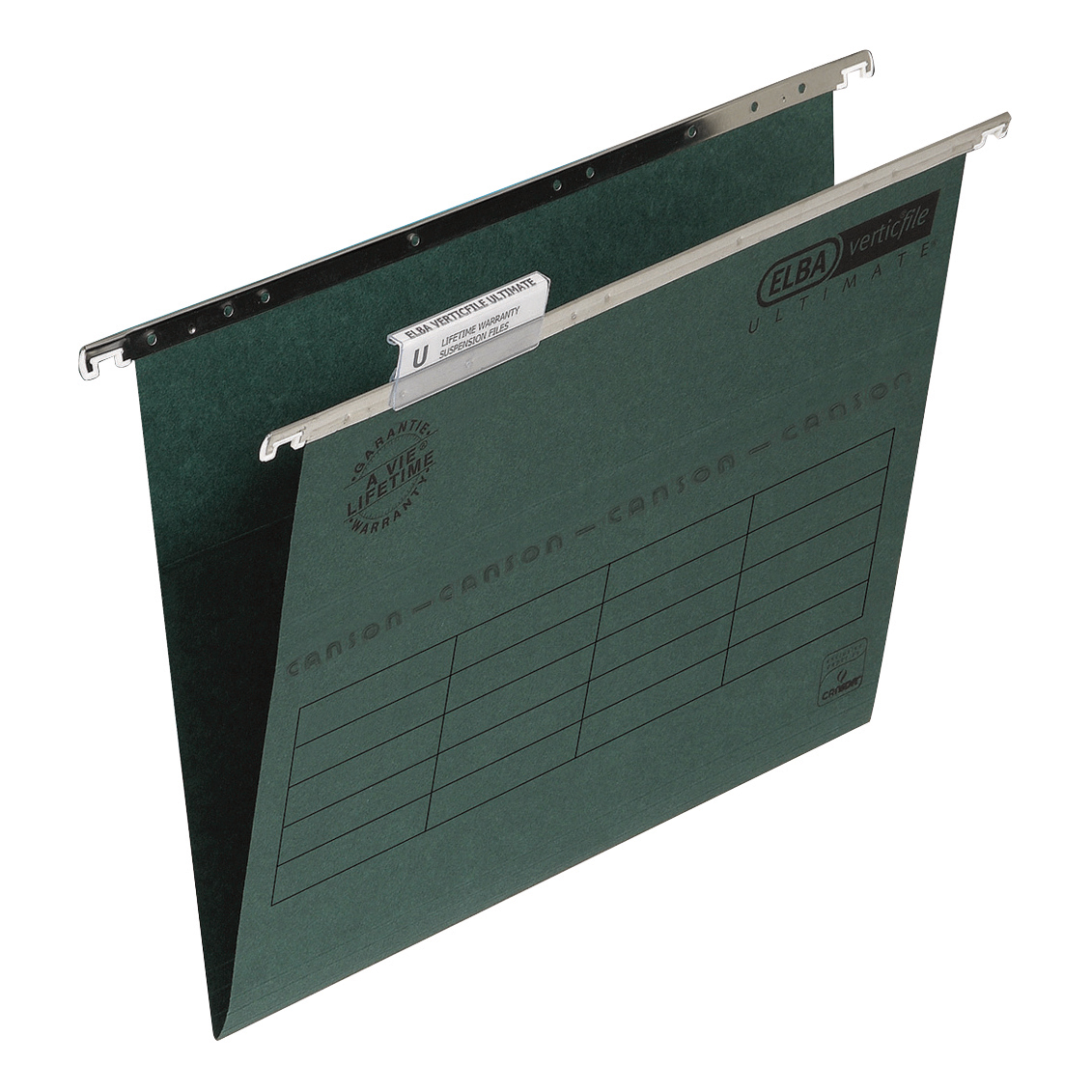 Elba Verticfile Ultimate Suspension File 15mm V-base Manilla 240gsm A4 Green Ref 100331251 [Pack 50]