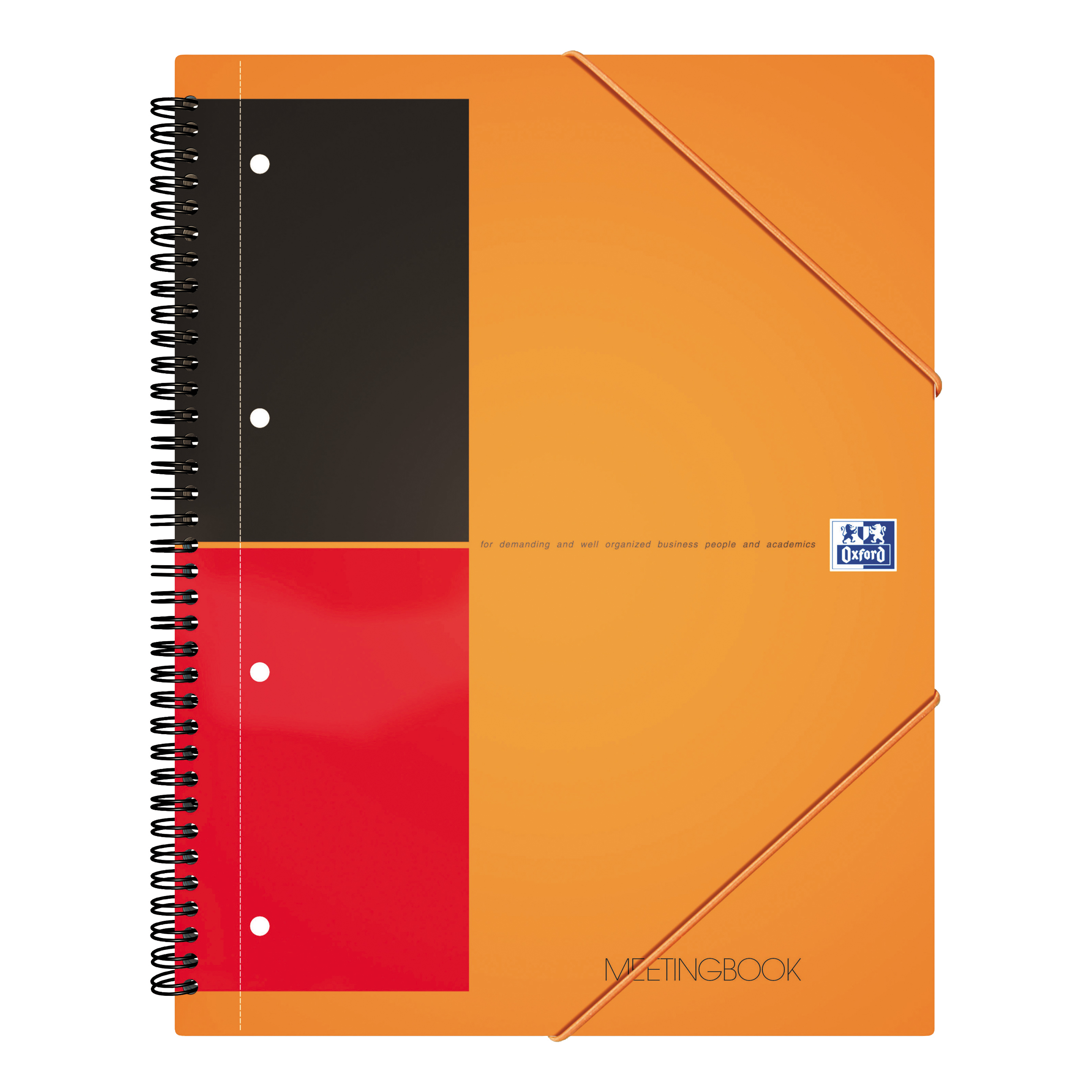 Oxford Int Meeting Nbk Poly Wbd 80gsm Smart Ruled Perf Punched 4 Holes 160pp A4+ Ref 100104296 [Pack 5]