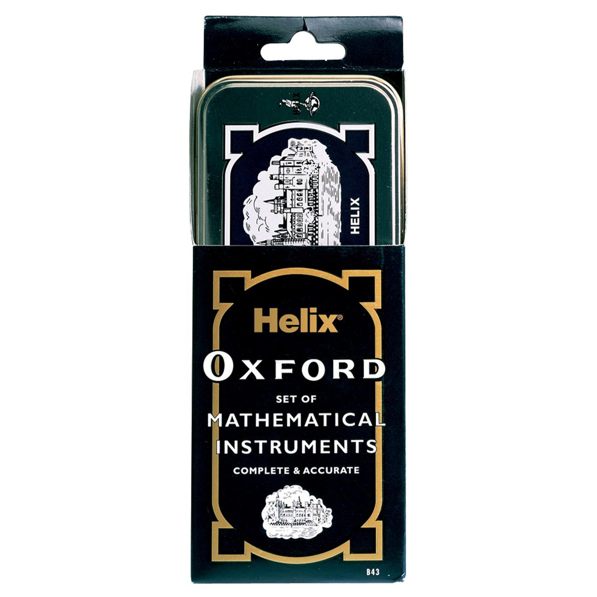 Helix Oxford Maths Set includes Various Stationery Items and Storage Tin Black Ref B43000